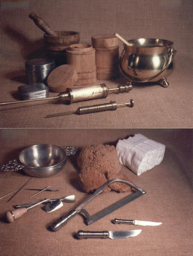 17th century surgery instruments